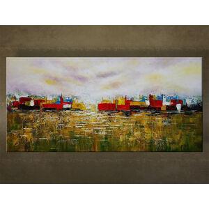Ručně malovaný obraz Sleva 25% na stěnu ABSTRAKT 40x80 cm FB475E1 / 24h