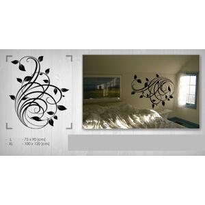 Nálepka na zeď Sleva 50% KVĚTY 75x90 cm NAK018 / 24h - černá barva