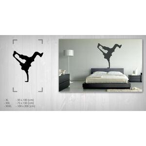 Nálepka na zeď Sleva 20% EXTRÉMNÍ SPORTY 75x150 cm NAEX016 / 24h - černá barva