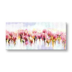 Malovaný obraz na stěnu KVĚTINY 60x130 cm FB160E1/24h