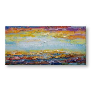 Malovaný obraz na stěnu Sleva 40% ABSTRAKT 100x50 cm BI166E1/24h