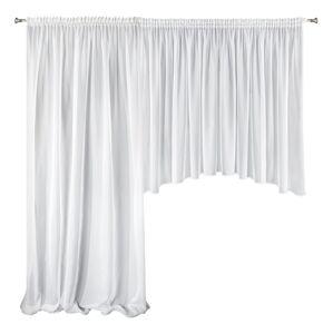 Set luxusních záclon AGA 4 bílá 400x145 - 200x245