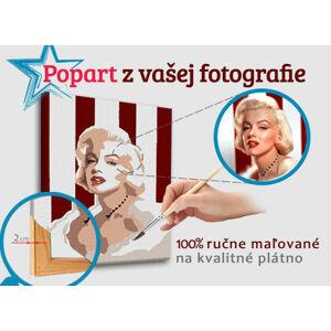 Malovaný POP Art obraz z fotografie - ČTVEREC