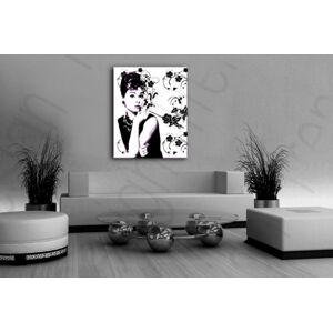 Ručně malovaný POP Art Audrey Hepburn 80x100 cm