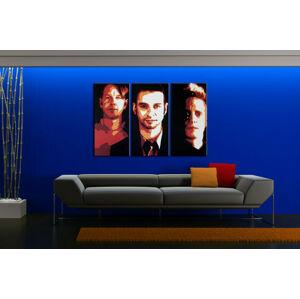 Ručně malovaný POP Art Depeche Mode 3 dílný 120x80cm