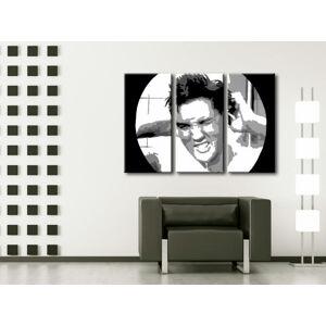 Ručně malovaný POP Art ELVIS 3 dílný 120x80cm