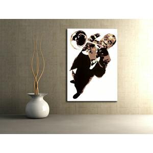 Ručně malovaný POP Art Luis Armstrong 1 dílný 70x100cm