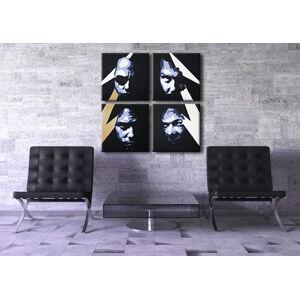 Ručně malovaný POP Art METALLICA 4 dílný 100x100cm