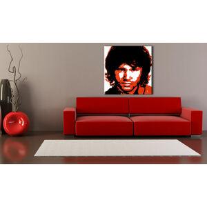 Ručně malovaný POP Art Jim Morrison 1 dílný 100x100cm