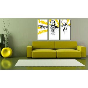 Ručně malovaný POP Art Pulp Fiction 3 dílný 120x80cm