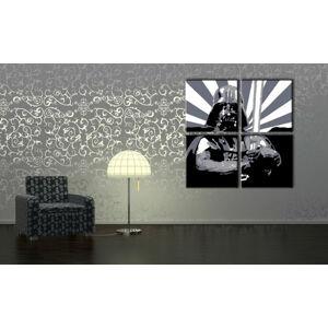 Ručně malovaný POP Art STAR WARS 4 dílný 100x100cm