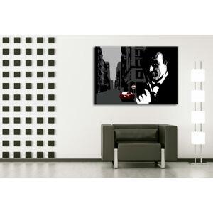 Ručně malovaný POP Art James Bond 1 dílný 100x70cm
