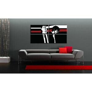 Ručně malovaný POP Art PULP FICTION 4 dílný 160x80cm