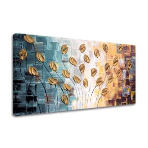 Ručně malovaný obraz na zeď KVĚTY FB002E1
