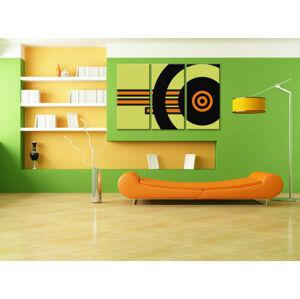 Ručně malovaný POP Art ABSTRAKT 3 dílný 120x80cm