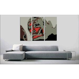 Ručně malovaný POP Art BROWN APE 3 dílný 120x80cm