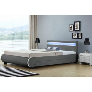 """Čalouněná postel,, Bilbao """"s úložným prostorem 140 x 200 cm - tmavě šedá"""