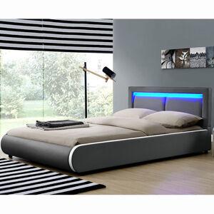 """Čalouněná postel,, Murcia """"140 x 200 cm - tmavě šedá"""