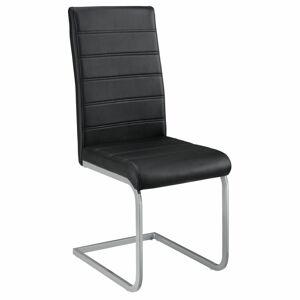 Konzolová židle  Vegas sada 4 kusů, syntetická kůže, v černé barvě