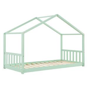 Dětská postel Paulina 90 x 200 cm s laťovým roštem mentolové barvy