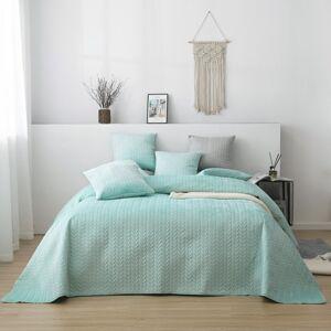 Luxusní přehoz na postel MOXIE mátový 240 x 220