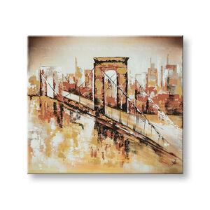 Malovaný obraz na stěnu MĚSTO 1 dílný YOBFB552E1