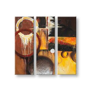 Ručně malovaný obraz DeLUXE ABSTRAKT 3 dílný 031D3