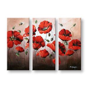 Ručně malovaný obraz na zeď KVĚTY FB181E3