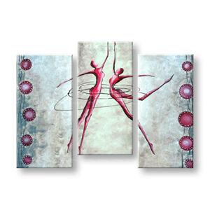 Ručně malovaný obraz LOVE 3 dílný  NU0028E3