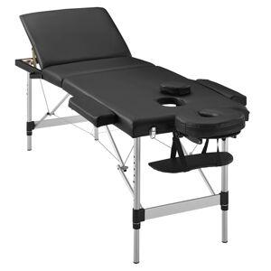 """,, Masážní stůl """", hliníkový rám (černý) 180 x 60 cm"""