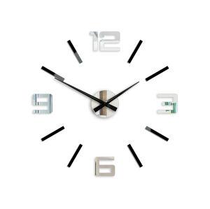 Moderní nástěnné hodiny SILVER XL BLACK-MIRROR HMCNH065-blackmirror