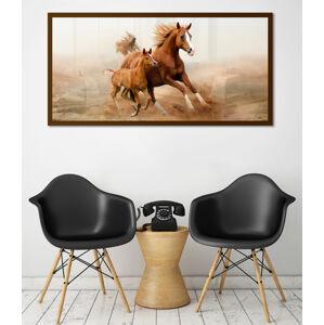 Obraz Hnědé Koně na zrcadle Mirrora 39 - 50x100 cm