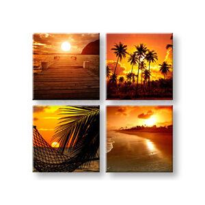 Obraz na stěnu Summer time 4 dílný XOBKOL23E42