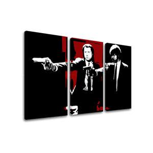 Tištěný POP Art obraz Pulp Fiction 3 dílný pulp5