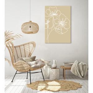 Obraz na plátně White poppy 1 dílný XOBVERART014E1
