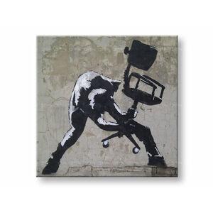 Obraz na plátně ČTVEREC Street ART - Banksy