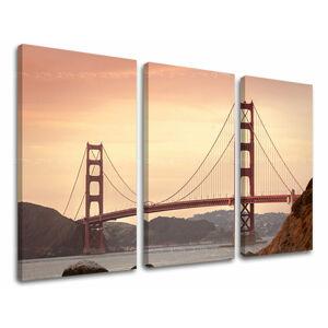 Obraz na stěnu 3 dílný MĚSTO / SAN FRANCISCO ME116E30