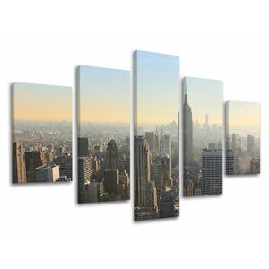 Obraz na stěnu 5 dílný MĚSTO / NEW YORK ME117E50