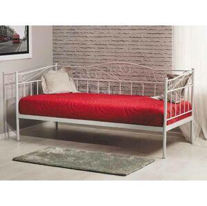 Kovová postel Birma 90 x 200 cm bílá