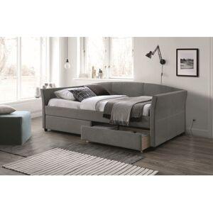 Čalouněná postel LANTA 90 x 200 cm šedá