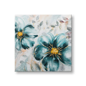 Malovaný obraz na stěnu KVĚTINY 1 dílný CWF1973WE1 - 70x70 cm