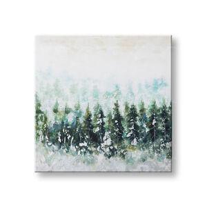 Malovaný obraz na stěnu LES 1 dílný CWFTR033 - 100x100 cm